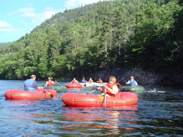 River Rafting in One Man Rafts, Lower Humber River, Western Newfoundland